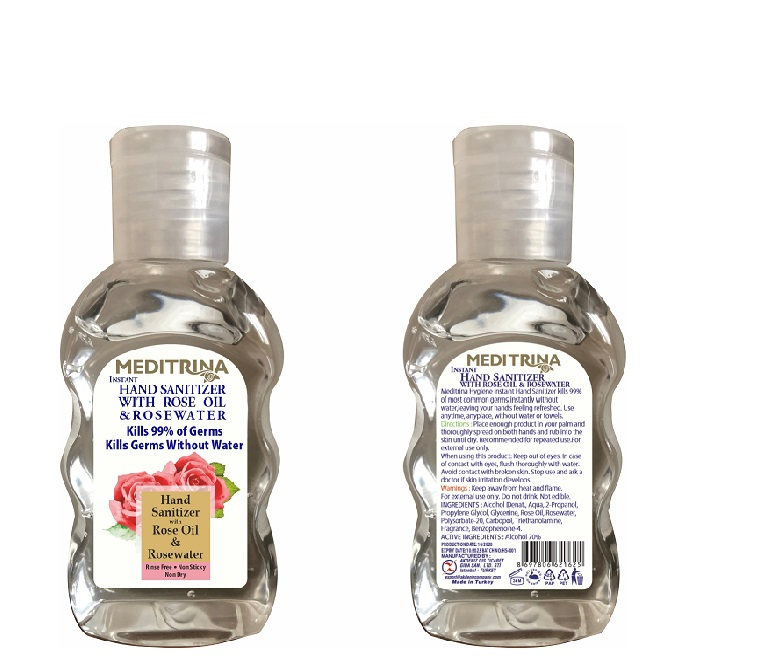 HAND SANITIZER  WITH ROSE OIL & ROSE WATER